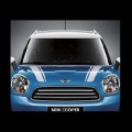 Mini Countryman  R60 2010-2016 НАКЛЕЙКА НА КАПОТ ПОЛОСА БЕЛАЯ ЛЕВАЯ