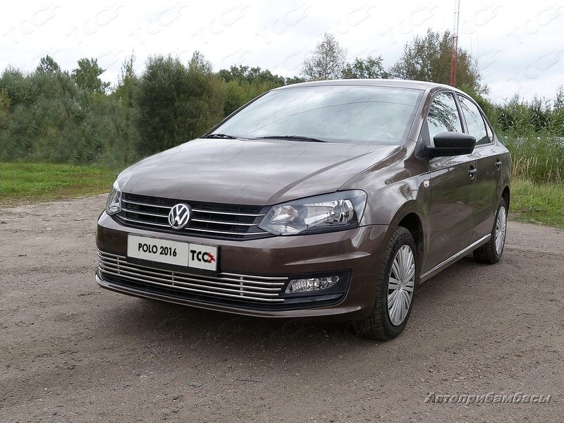 Volkswagen Polo Sedan 2016- Решётка радиатора нижняя 12 мм