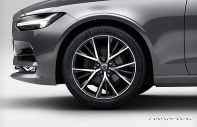 Volvo S90 2016- ДИСК КОЛЕСНЫЙ R19 Matt Tech Black Diamond Cut