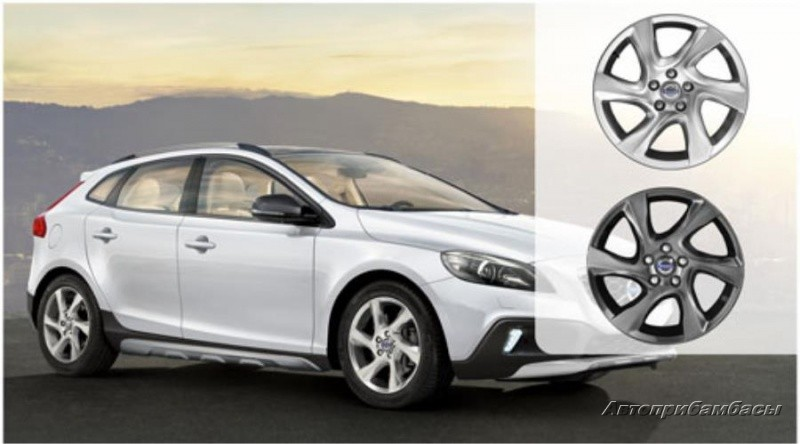 "Volvo V40 CROSS COUNTRY (2012-) ДИСК КОЛЕСНЫЙ R17 ""LARENTA"" Silver"