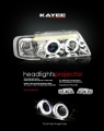 96-02 AUDI A3 CHROME HALO PROJECTOR HEADLIGHTS