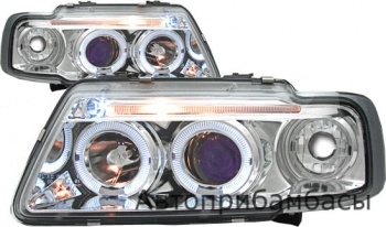 96-02 AUDI A3 CHROME HEAD LIGHT HALO