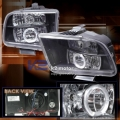 05-07 Ford Mustang Halo Projector Head Lights - Black