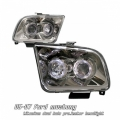 05-07 Ford Mustang Halo Projector Head Lights - Titanium