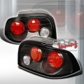 94-95 Ford Mustang Euro Tail Lights - Black