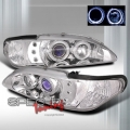 94-98 Ford Mustang 1 Pc Halo Blue Projector Headlights