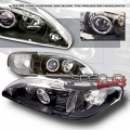 94-98 Ford Mustang 1 Pc Projector Headlights - BLACK