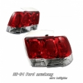 99-04 Ford Mustang Euro G1 Tail Lights - Red/Clear