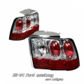 99-04 Ford Mustang Euro G2 Tail Lights - Chrome