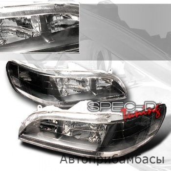 98-02 Honda Accord 2/4DR JDM Black Head Lights
