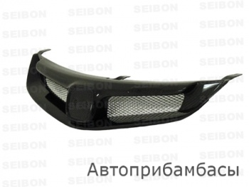 MG-style carbon fiber front grille for 2006-2007 Honda Civic 4DR JDM