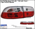92 93 94 95 HONDA CIVIC 2DR/4DR RED CLEAR TAIL LIGHTS