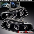 95 96 97 98 AUDI A4 S4 BLACK LED PROJECTOR HEADLIGHTS