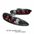 92-96 Mazda MX3 Euro Tail Lights - Black
