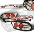 93-97 Mazda RX7 Euro Tail Lights - Chrome