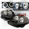 93-97 Mazda RX7 Twin Halo Projector Head Lights - Black