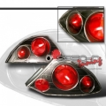 00-02 Mitsubishi Eclipse Euro Tail Lights - Black