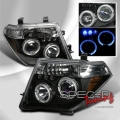 05-06 Nissan Pathfinder Dual Halo Projector Headlights - BLACK