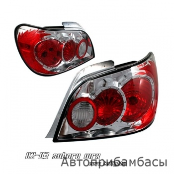 02-03 Subaru WRX Euro Tail Lights - Chrome