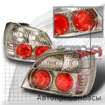 02-03 Subaru WRX Euro Tail Lights - Gunmetal