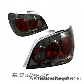 02-03 Subaru WRX Euro Tail Lights - Smoke