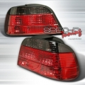 95-01 BMW E38 Euro Tail Lights - Red/Smoke