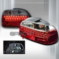 96-00 BMW E39 5 Series LED Tail Lights - Red/Clear