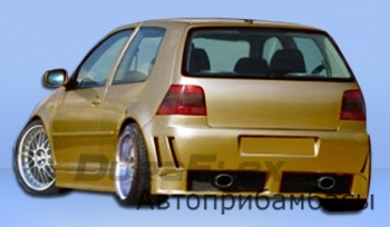 Задний бампер VW Golf/GTI 99-06 (4DR) Piranha
