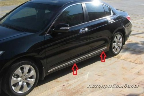 Honda Accord 2013 Хром молдинги на низ дверей