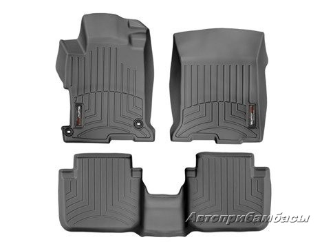 Honda Accord 2013-  Ковры WeatherTech Floorliner черные