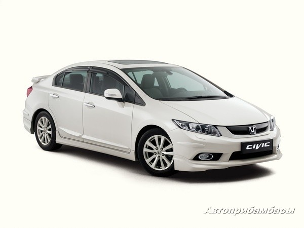 Honda Civic  4D 2012-  Накладки нв пороги